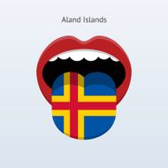 Aland Islands language Abstract human tongue