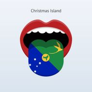 Christmas Island language Abstract human tongue