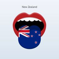 New Zealand language Abstract human tongue