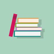 book stack flat icons design vector N2