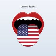 United States language Abstract human tongue