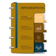 Notebook Infographics Design Template