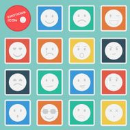 Vector emotions mood icon set