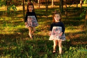twin sisters forest girls