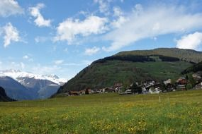switzerland mountain meadow countryside landscape