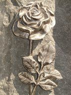 Stone Rose on the tombstone