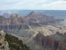 landscape of the mountains in grand canyon in Arizona