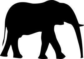 elephant silhouette drawing