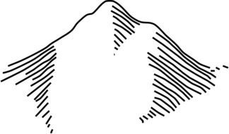 outline drawing of mountains