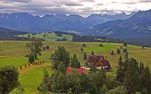 Tatra picturesque landscape on a cloudy day