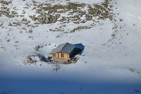 House in the alpine mountains