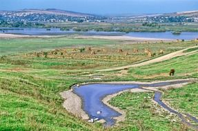 panoramic view of the picturesque landscapes of Moldova