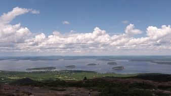 acadia national park cloudy panorama