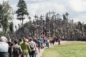 Lithuania mountain of crosses siauliai
