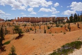 Yellow bryce canyon sky view