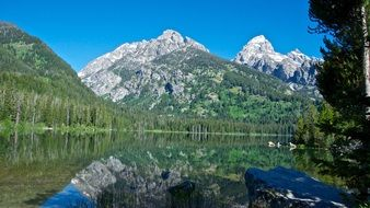 lake and mountains in Grand Teton National Park