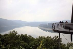 observation deck overlooking the lake