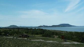 panoramic view of the lake balaton
