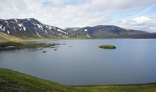 mountain lake in Iceland