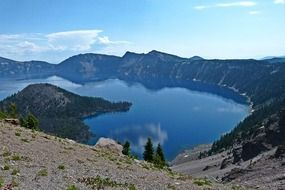 beautiful crater lake in Oregon