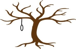 graphic image of a loop on a bare tree