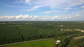 aerial view of the picturesque landscape in finland