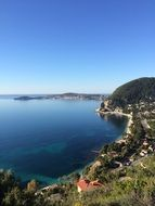 panoramic view of the picturesque mountain sea coast