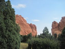 Garden of the Gods in Colorado is a tourist attraction