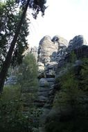 rocks in saxon switzerland