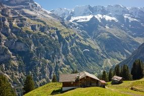 chalet in the alps in switzerland