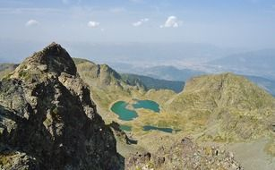 lakes in mountain landscape, france, lacs Robert