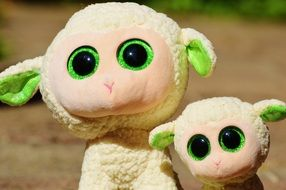 cute sheep with glitter eyes