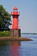lighthouse elbe river
