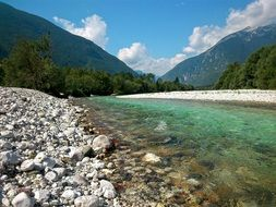 clear river in Slovenia