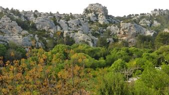 light color rock landscape in Provence