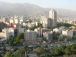 aerial view of the city in iran
