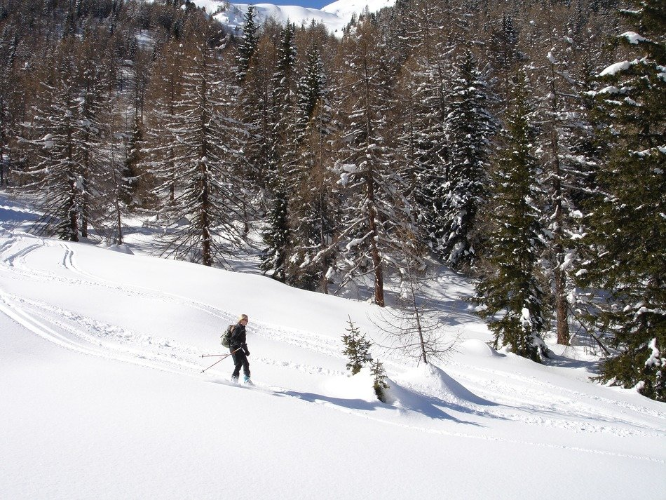 skier in the mountains of South Tyrol
