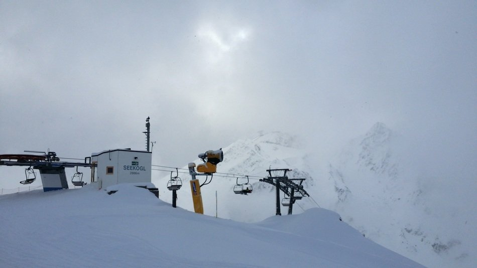 cable car fog ski lift chairlift