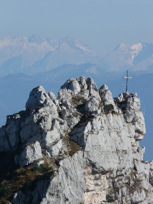 view of the cross on the ridge
