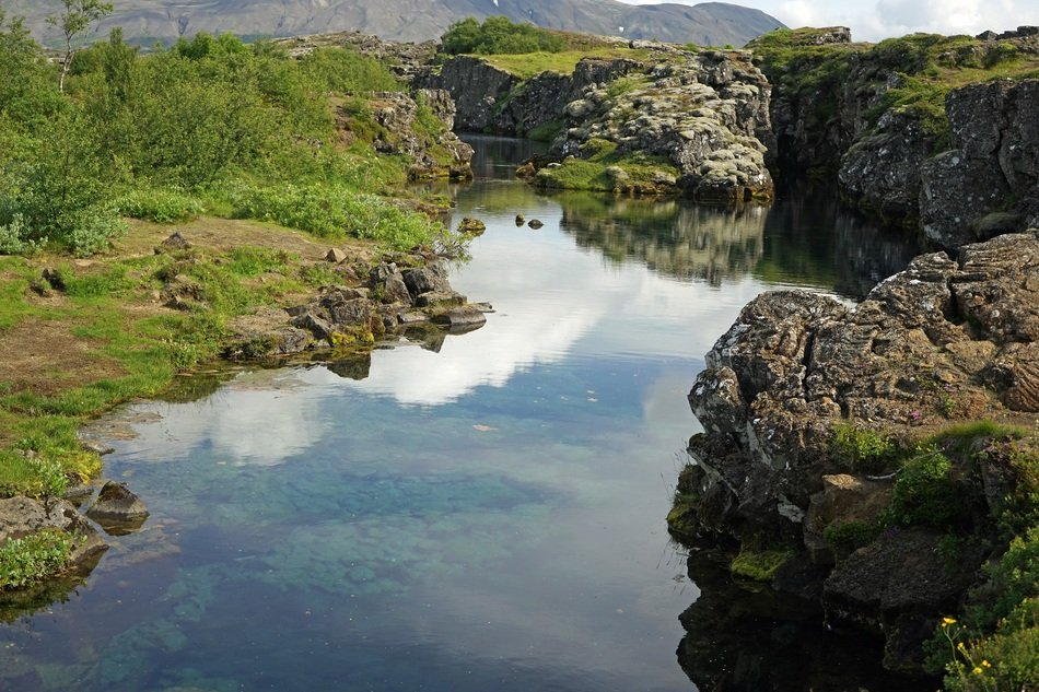 small lake in Iceland