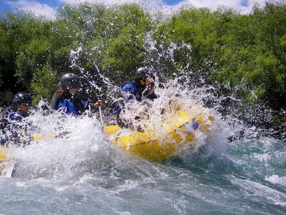 river rafting in Pucon, Chile