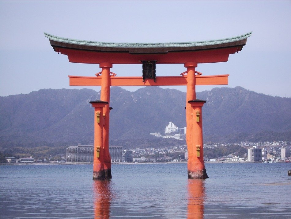 Itsukushima is an island of the Inland Sea of Japan