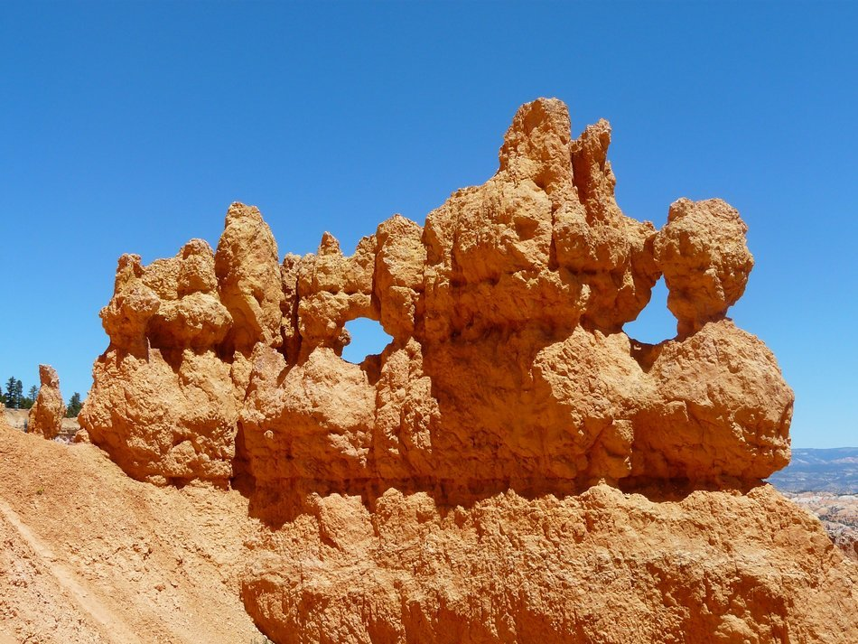 unusual form of sandstone in Bryce Canyon, Utah