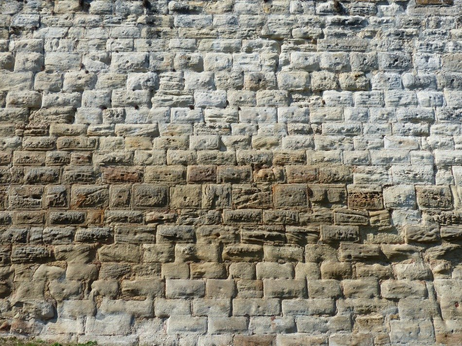 sand stone wall close-up