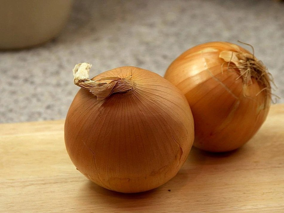two yellow onions