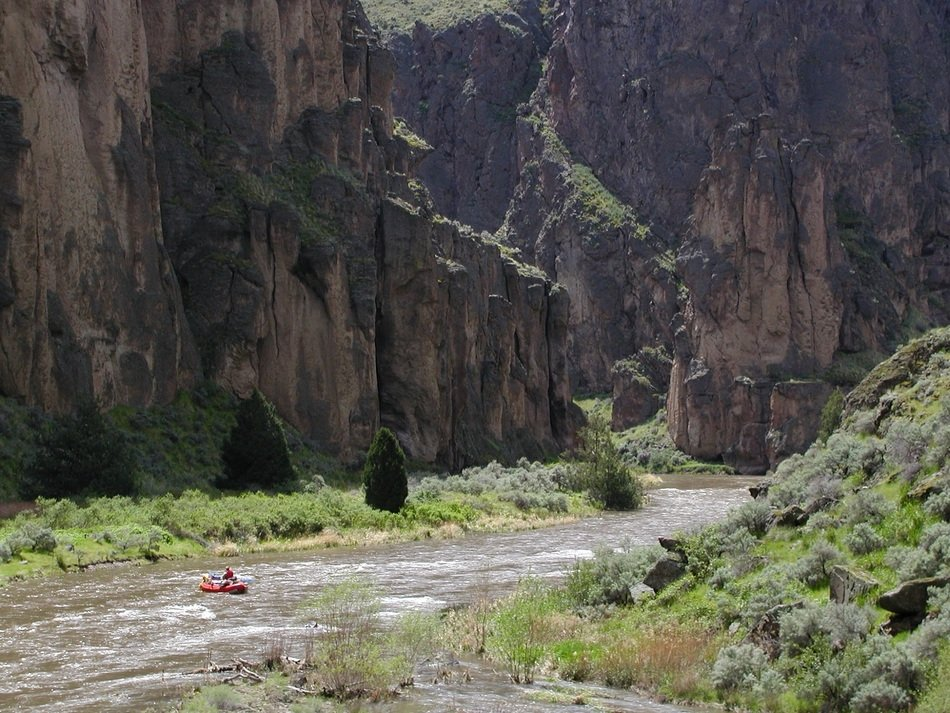 rafting in a mountain river
