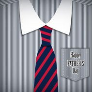 Vector fathers day greeting card with shirt