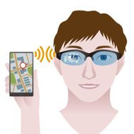 smart glasses connect to phone Wearable device illustration
