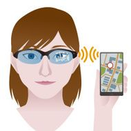 smart glasses connect to phone Wearable device illustration N2