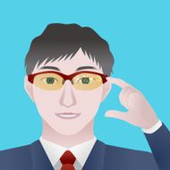 man with smart glasses Wearable device illustration N2